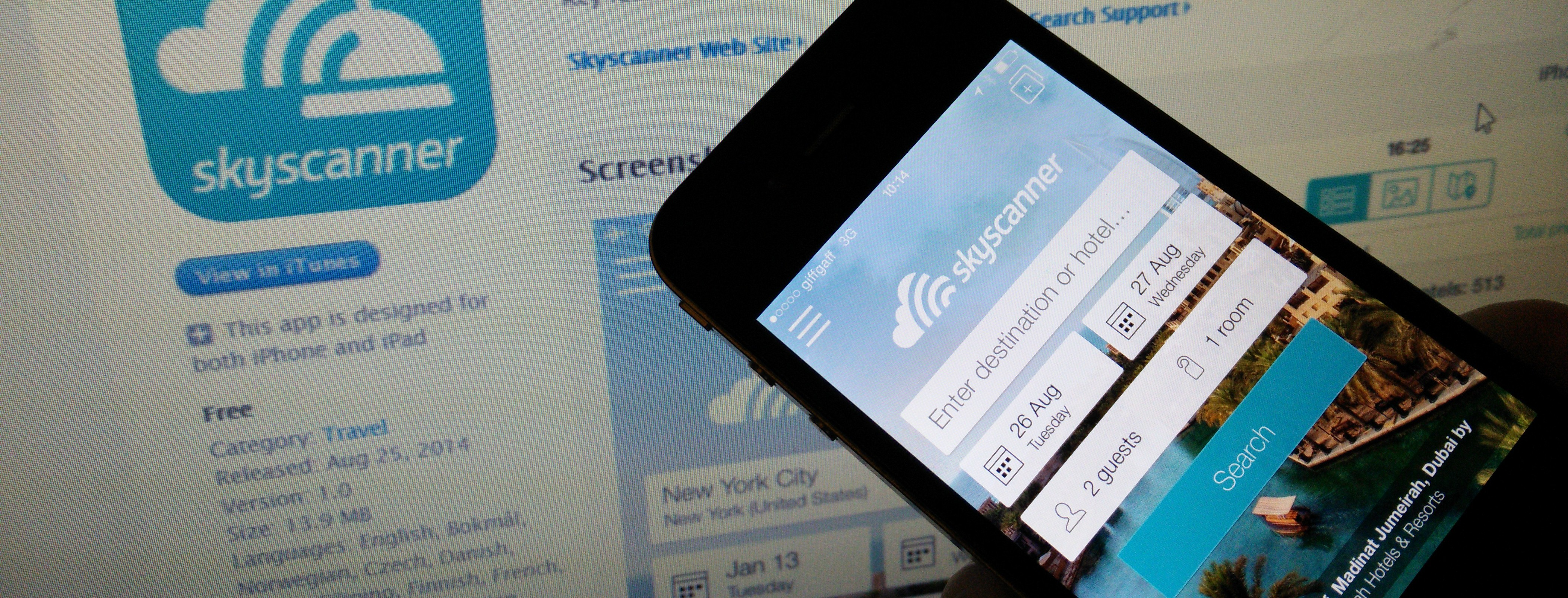 Skyscanner Hotel Search Launches for iOS
