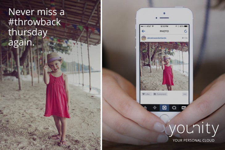 Younitys personal cloud service adds Instagram support for easier #TBT sharing