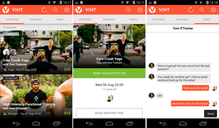 Vint mobile 730x429 Vint launches iOS and Android apps for its on demand fitness trainer platform