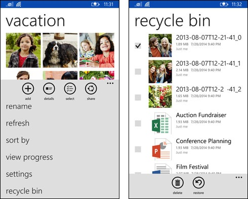 WP Microsoft integrates OneDrive for Business into main OneDrive for Android app, iOS app gets native search