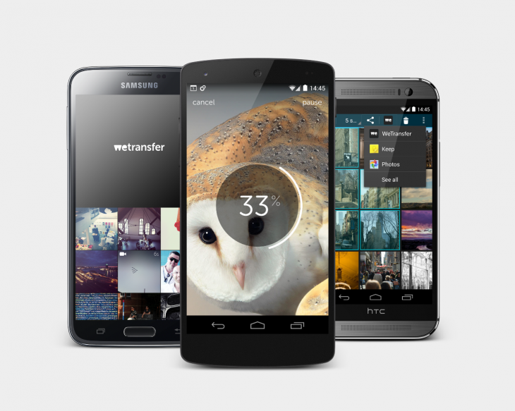 WeTransfer app phone selection_medium size