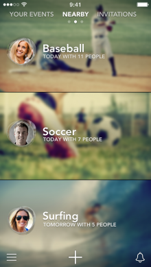 a1 220x389 Sporty for iPhone launches to help you find people nearby to play sports with
