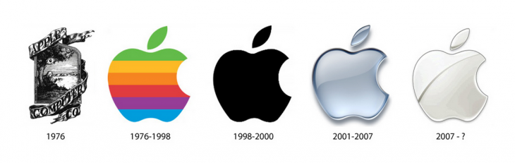 apple logos 730x231 How to avoid a logo misfire: Steps to a positive rebranding experience