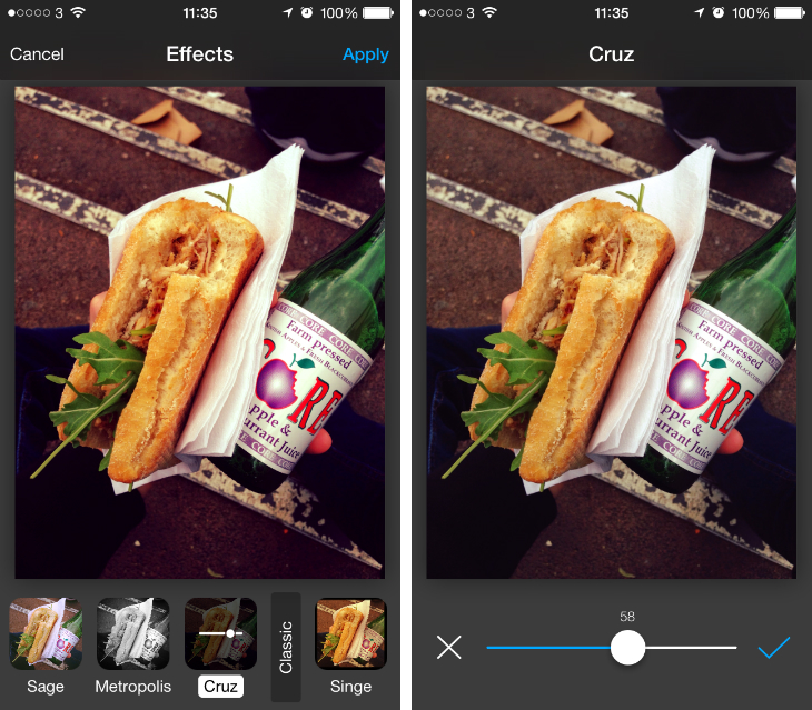 avairy1 Aviary for iOS now lets you adjust the strength of its photo filters