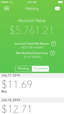 b 220x390 Acorns for iPhone wants to help you get rich by micro investing your spare change