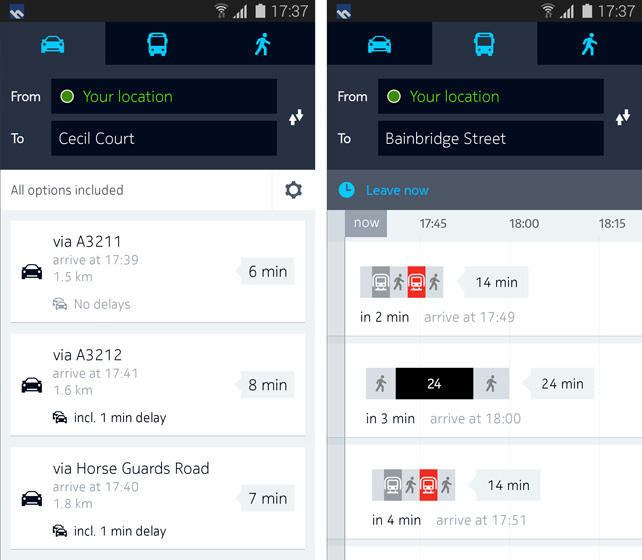 drive route overview Nokia announces HERE maps for Android, launching exclusively for Samsung Galaxy smartphones with offline access