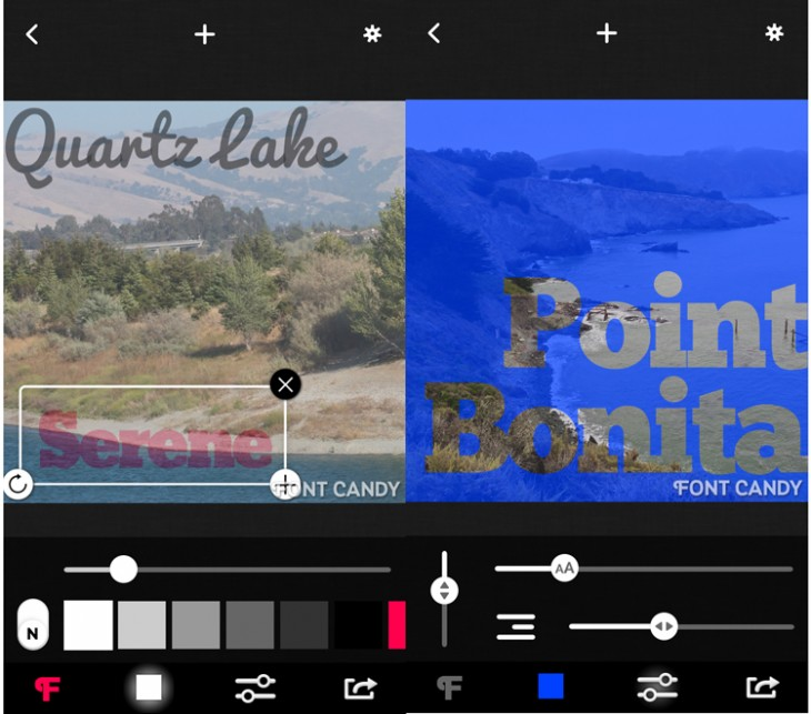 fontcandy 730x643 9 outstanding apps for adding text to your photos