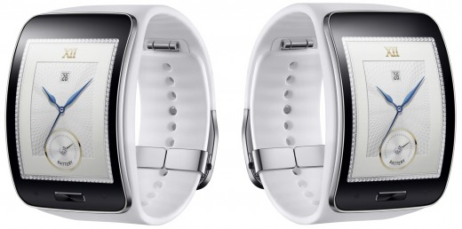gear s white 520x258 Samsungs new smartwatch, the Gear S, can make calls and go online without a smartphone