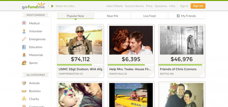 gofundme 730x343 Which crowdfunding platform is right for your startup?