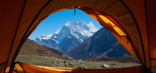 himalayas mountain camp tent