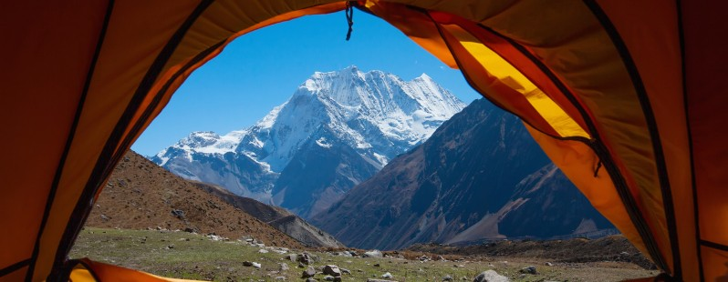 himalayas mountain camp tent