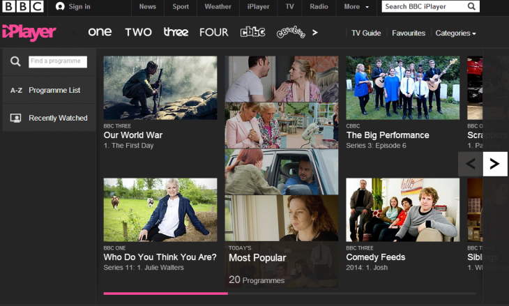 iPlayer 730x439 Redesigned BBC iPlayer lands on new devices, will finally debut on Xbox One later this year