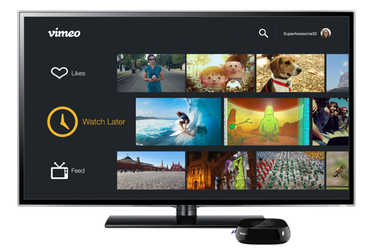image001 730x492 Vimeo redesigns its Roku app and promises future Vimeo On Demand support