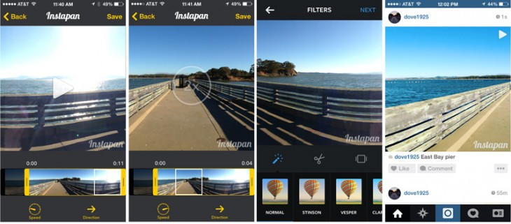 instapan 730x321 Hands on with Instapan: Transform panos into Instagram video