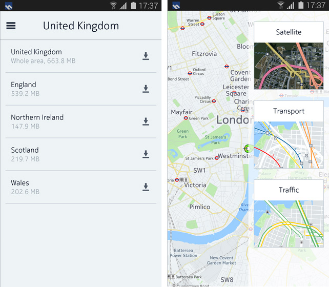 map downloader Nokia announces HERE maps for Android, launching exclusively for Samsung Galaxy smartphones with offline access