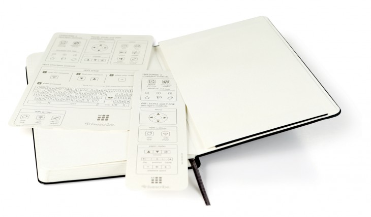 moleskine Livescribe pocket cards 730x428 You can now use your Livescribe smartpen with Moleskine notebooks