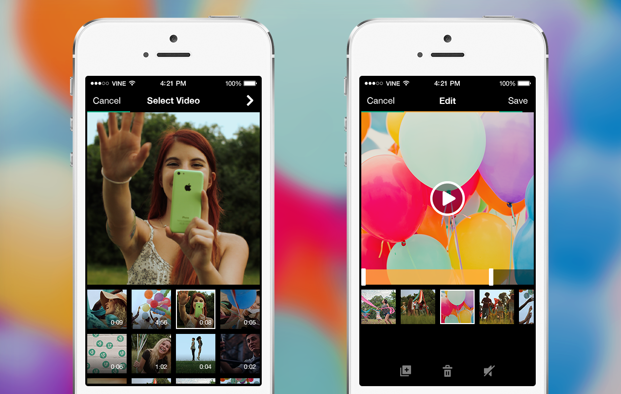 new camera 3 Vine gets advanced editing tools and now lets you import existing videos, just like Instagram