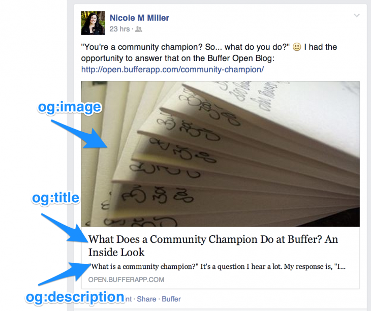 og tags facebook 730x612 What really happens when someone clicks your Facebook Like button