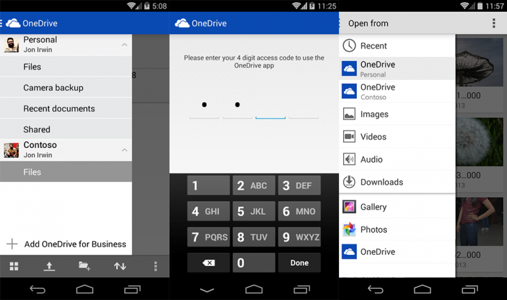 onedrive android integration 730x432 Microsoft integrates OneDrive for Business into main OneDrive for Android app, iOS app gets native search