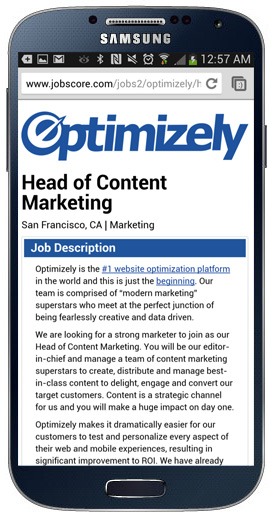 optimizely 1 How to design a mobile career site that attracts great candidates