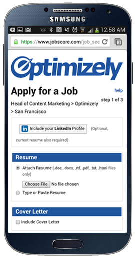 optimizely3 How to design a mobile career site that attracts great candidates