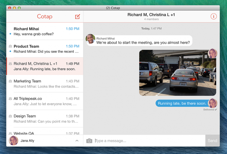 osx cotap recent small 730x497 Cotap brings its enterprise messaging service to the desktop