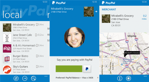 paypal wp 520x288 PayPal for Windows Phone revamped with in store payments, offers, check in to pay, and order ahead