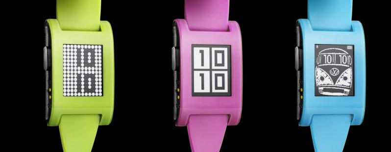 Pebble推出荧光色限量版手表