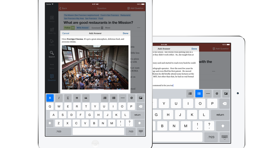 Quora Finally Releases an iPad App