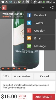 share low res 718x1024 220x391 Drync for Android now lets US oenophiles pay for wine using Google Wallet