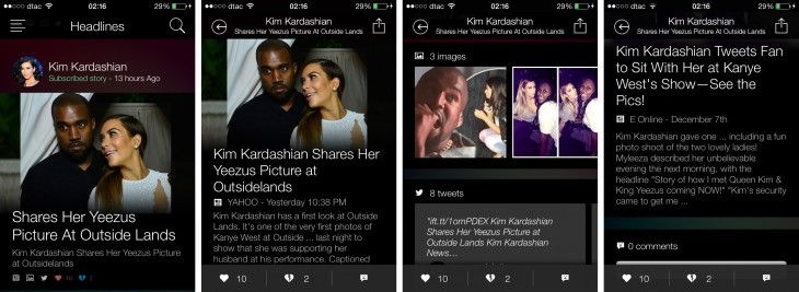 snipp3t 730x267 Microsofts new iOS app lets you keep up with news from your favorite celebs