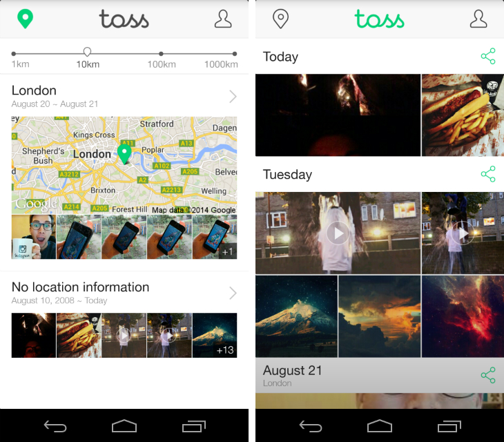 toss1 Line launches Toss, an app that makes it easy to share groups of photos and videos