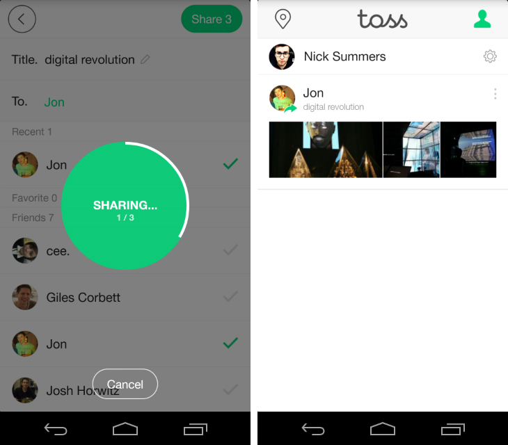 toss2 Line launches Toss, an app that makes it easy to share groups of photos and videos