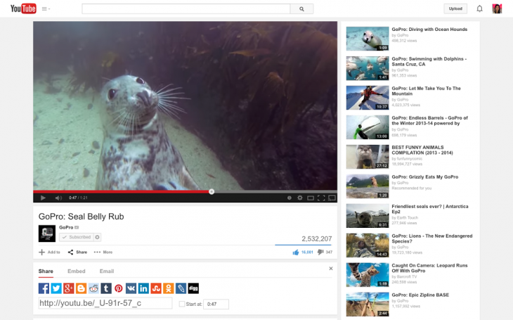watch8seal share 730x455 YouTube now lets you queue videos on the Web to send to Chromecast