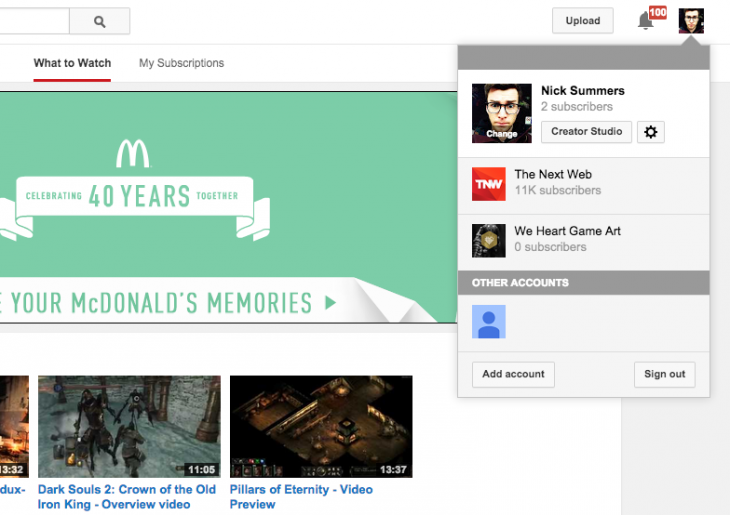 yt2 730x515 YouTube has given its site a minor facelift