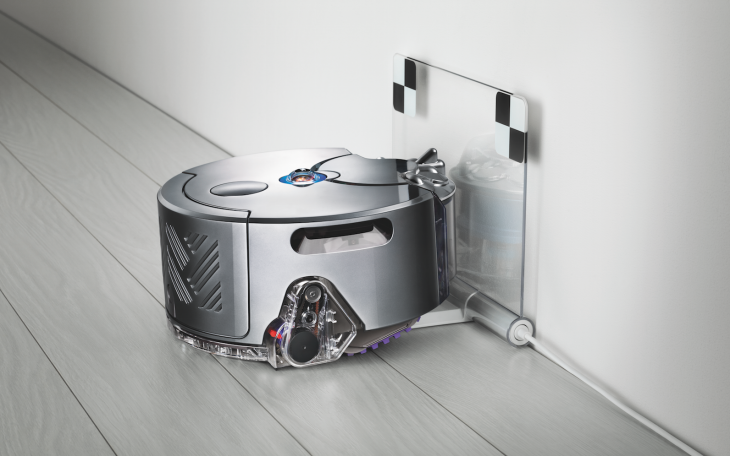 360 eye dyson dock 730x456 The 360 Eye is Dysons first robotic vacuum cleaner