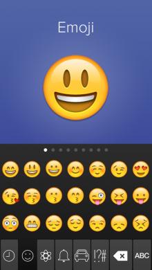 Fleksy iOS8 emoji1 220x390 Fleksy flexes its iOS 8 muscles as the keyboard app arrives for iPhone and iPad