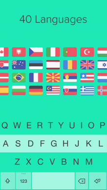 Fleksy iOS8 languages1 220x390 Fleksy flexes its iOS 8 muscles as the keyboard app arrives for iPhone and iPad