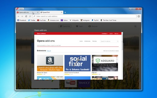 O24 tab preview extensions 520x325 Operas desktop browser now boasts over 1,000 extensions and comes with a tab preview feature
