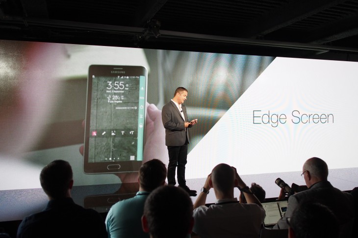 P9030106 730x486 Samsung announces the Super AMOLED Galaxy Note 4 and Note Edge with curved screen