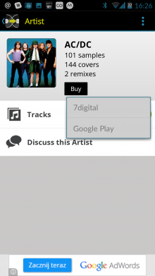 Screenshot 2014 09 22 16 27 03 220x391 See whos remixed and covered your favorite songs with WhoSampled for Android