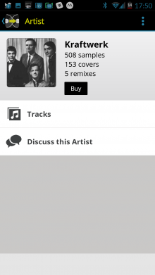 Screenshot 2014 09 22 17 50 52 220x391 See whos remixed and covered your favorite songs with WhoSampled for Android