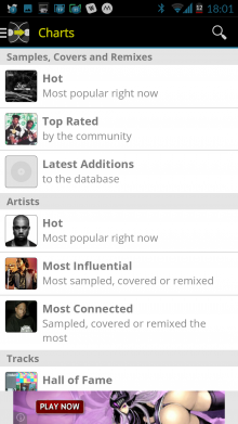Screenshot 2014 09 22 18 01 36 220x391 See whos remixed and covered your favorite songs with WhoSampled for Android