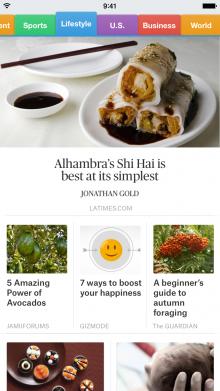 SmartNews screenshot1 220x391 SmartNews, a top news reading app in Japan, comes to the US