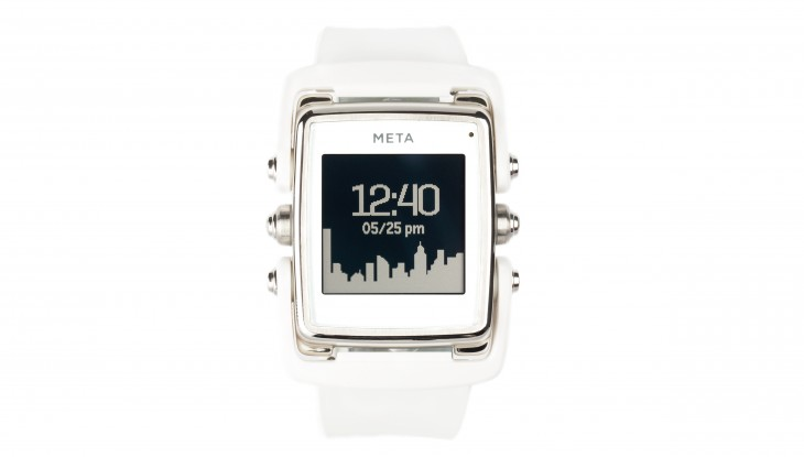 White Front 730x415 Meta M1: A smartwatch that you won't be ashamed to wear