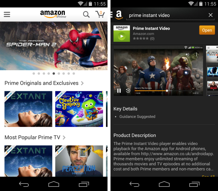 amazon1 Amazon finally brings Prime Instant Video streaming to Android