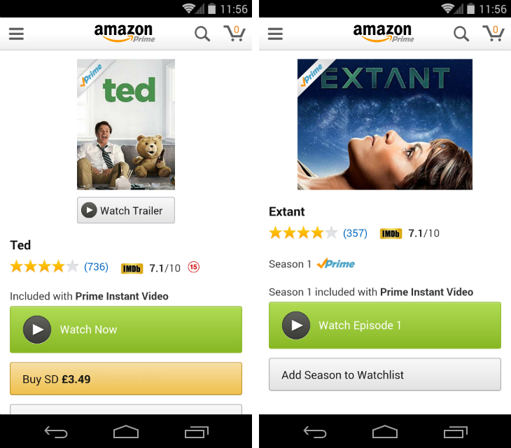 amazon2 Amazon finally brings Prime Instant Video streaming to Android