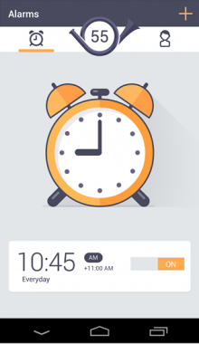 c1 220x380 Forget alarm clocks, Wakie wakes you with phone calls from strangers