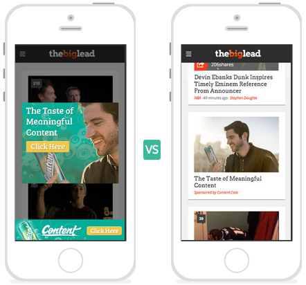 display advertising vs native advertising How to retarget your audience with native advertising