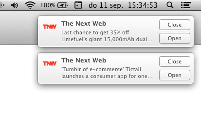 display (Re )activate push notifications for The Next Web via Safari